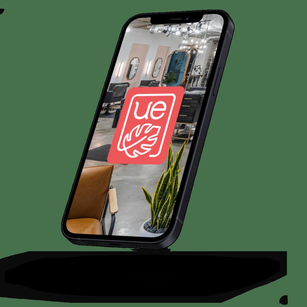 urban eve iphone app mockup full - Urban Eve